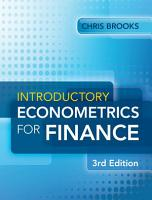 Introductory Econometrics for Finance PDF