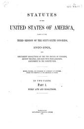 Statutes of the United States of America: Parts 1-2