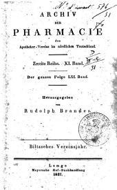 Archiv der Pharmacie des Apotheker Vereins im nordlichen Teutschland