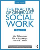 Chapters 8 13  The Practice of Generalist Social Work  Third Edition PDF