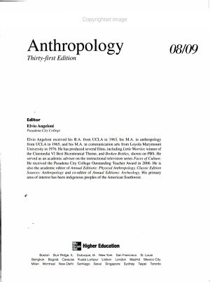 Annual Editions: Anthropology 08/09