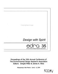 EDRA  Proceedings of the Annual Environmental Design Research Association Conference PDF