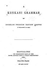 A Konkani Grammar