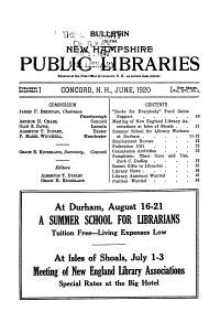 Bulletin of the New Hampshire Public Libraries PDF