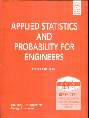 APPLIED STATISTICS AND PROBABILITY FOR ENGINEERS  3RD ED  With CD   PDF