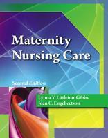 Maternity Nursing Care  Book Only  PDF