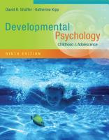 Developmental Psychology  Childhood and Adolescence PDF