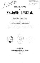 Elementos de anatomía general o histología comparada