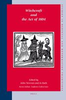 Witchcraft and the Act of 1604 PDF