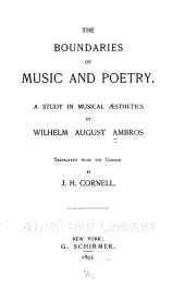 The Boundaries of Music and Poetry: A Study in Musical Aesthetics