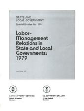 State and local government special studies: Issue 100