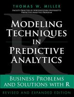 Modeling Techniques in Predictive Analytics PDF