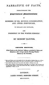 Narrative of Facts, Characterizing the Supernatural Manifestations in Members of Mr. Irving's Congregation