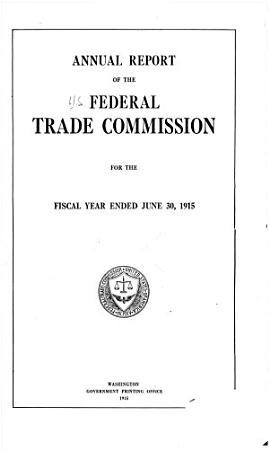 Annual Report of the Federal Trade Commission PDF