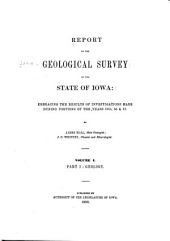 pt. II. Palæontology: Palæontology of Iowa, by J. Hall