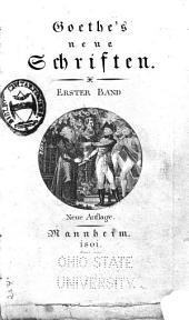 Goethe's neue Schriften: I-X