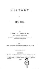 History of Rome: From the Gaulish invasion to the end of the first punic war /Thomas Arnold, Volume 2