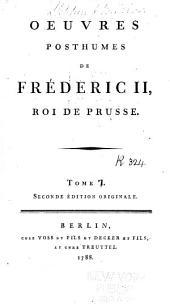 Oeuvres posthumes de Frédéric II, roi de Prusse: Poésies