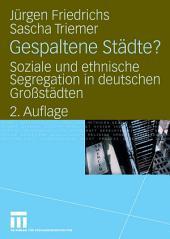 Gespaltene Städte?: Soziale und ethnische Segregation in deutschen Großstädten, Ausgabe 2