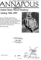 Annapolis  the United States Naval Academy Catalog PDF