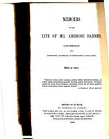 Memoirs of the Life of Mr  Ambrose Barnes  Late Merchant and Sometime Alderman of Newcastle Upon Tyne PDF