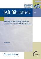Techniques for Asking Sensitive Questions in Labour Market Surveys PDF