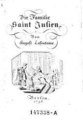 Die Familie Saint Julien. - Berlin 1798