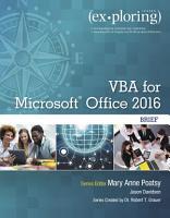 Exploring VBA for Microsoft Office 2016 Brief PDF