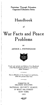 Handbook of War Facts and Peace Problems