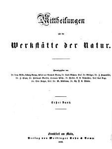 Mittheilungen aus der Werkstaette der Natur PDF