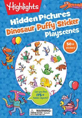 Dinosaur Hidden Pictures Puffy Sticker Playscenes