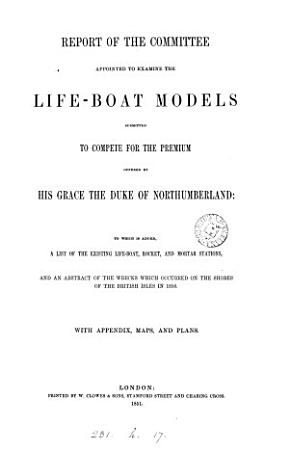 Report to which is added  a list of the existing life boat stations   c    PDF