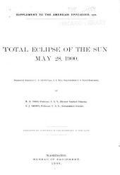 Total Eclipse of the Sun, May 28, 1900