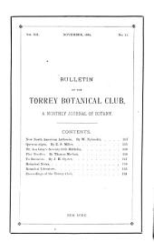 Bulletin of the Torrey Botanical Club: Volumes 11-12