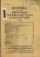 Journal of the American Pharmaceutical Association: Volume 7, Issue 7