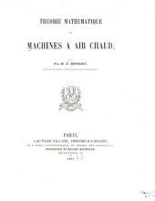 Théorie mathématique des machines à air chaud
