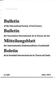 Bulletin of the International Society of Soil Science PDF