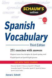 Schaum S Outline Of Spanish Vocabulary 3ed Book PDF