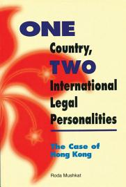 One Country  Two International Legal Personalities PDF