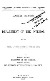 Annual Report of the Department of the Interior: Volume 1