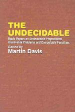 The Undecidable