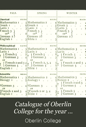 Catalogue of Oberlin College for the Year ...