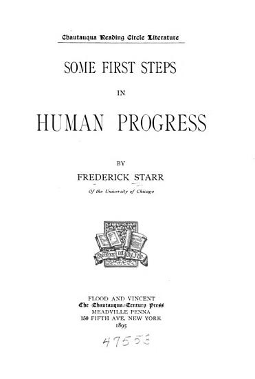 Some First Steps in Human Progress PDF