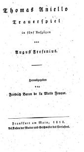 Thomas Aniello, Trauerspiel