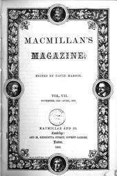 Macmillan's Magazine; Vol VII; Nov 1862 - Apr 1863