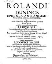 Epistola anti-animadversoria animadversionum quas Ulricus Obrechtus ... ad litteras imperatoris Leopoldi I ... pro habenda investitura regni Neapolitani fecerat etc