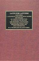 Latin for Lawyers PDF