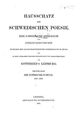 Hausschatz der schwedischen Poesie PDF
