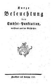 Kurze Beleuchtung der Embser-Punktation: meistens aus der Geschichte
