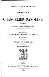 Mémoires du Chancelier Pasquier: ptie. Restauration: t. 4. 1815-1820